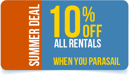 10% Off All Rentals When You Parasail